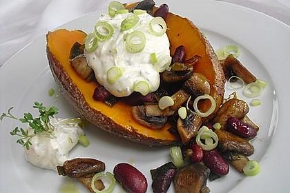 Gebackene Süßkartoffeln gefüllt mit Pilzen 1
