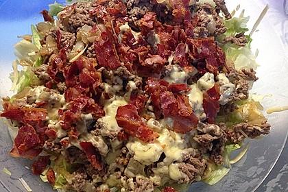 Big Mac Salat Low-Carb 4