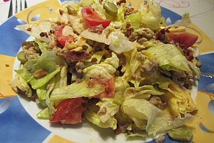 Big Mac Salat Low-Carb 11