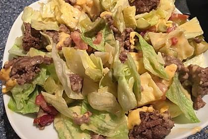 Big Mac Salat Low-Carb 7