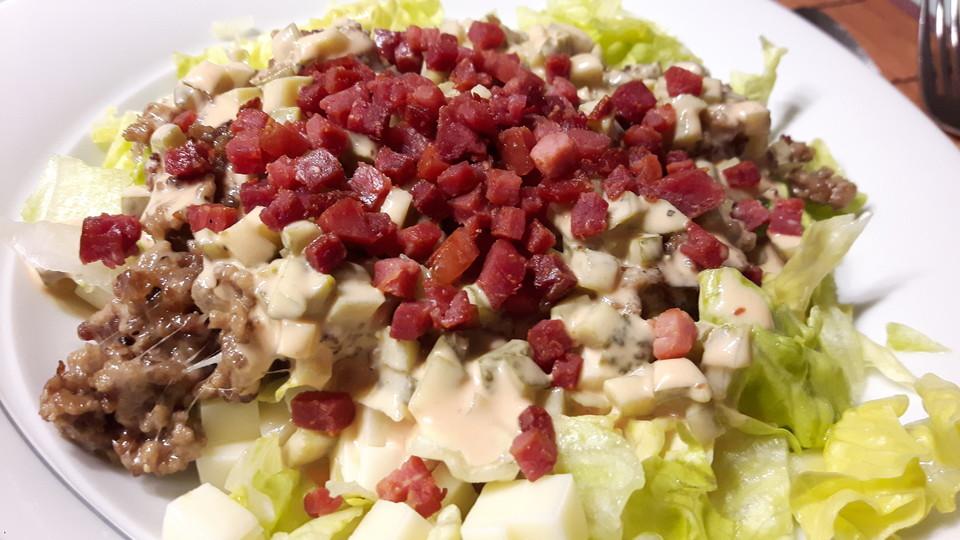 big mac salat low carb rezept mit bild von dorette1com. Black Bedroom Furniture Sets. Home Design Ideas