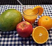 Mango-Orangen-Bananen Smoothie mit Limette