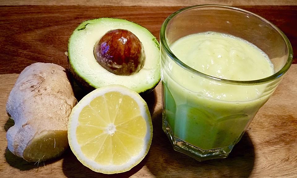 obst smoothie mit avocado und ingwer rezept mit bild. Black Bedroom Furniture Sets. Home Design Ideas