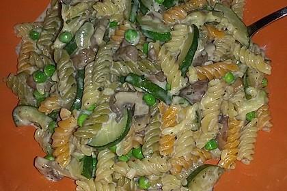 One Pot Nudeln mit Gemüse und Pilzen
