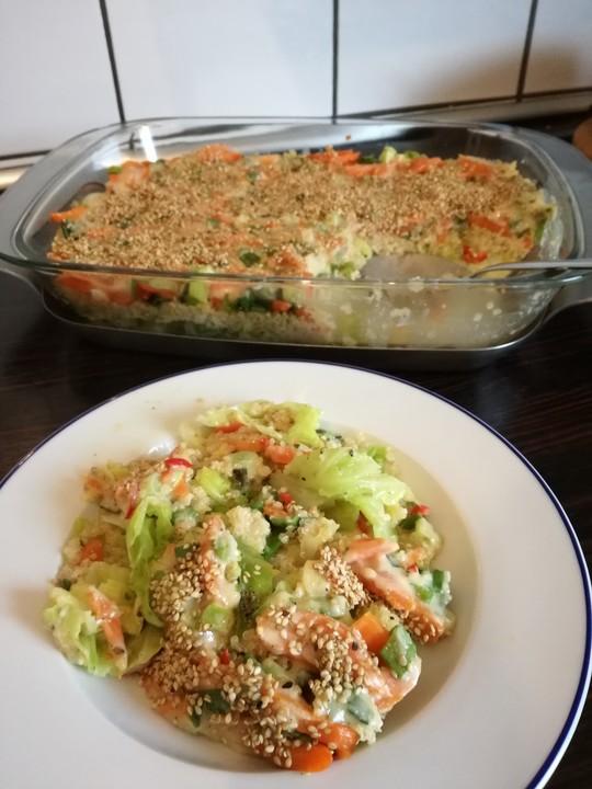 veganer quinoa wirsing auflauf rezept mit bild von k chen zauber. Black Bedroom Furniture Sets. Home Design Ideas