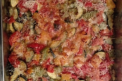 Polentaauflauf mit mediterranem Gemüse 4