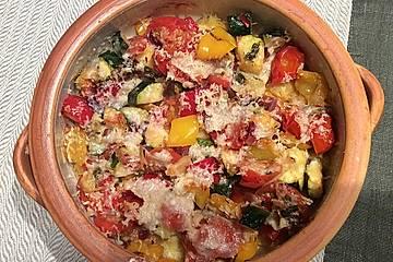 Polentaauflauf mit mediterranem Gemüse