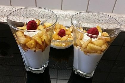 Apfel-Quark-Zimt Dessert