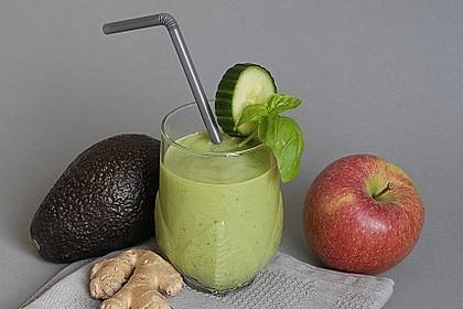avocado smoothie mit apfel gurke und basilikum von ars vivendi. Black Bedroom Furniture Sets. Home Design Ideas