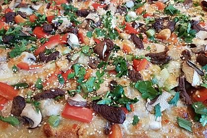 Asiatische Rindfleisch-Pizza 2