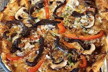 Asiatische Rindfleisch-Pizza 4