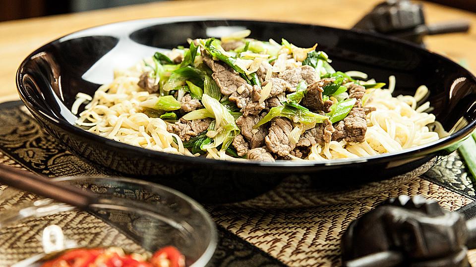 Asian Style Wraps mit Rindfleisch