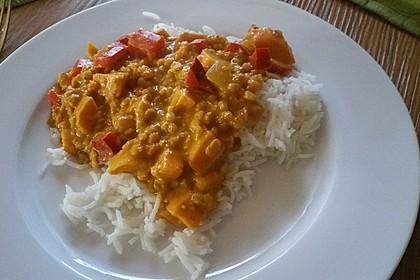 Rote Linsen Curry mit Süßkartoffeln 5