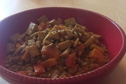 Rote Linsen Curry mit Süßkartoffeln 6