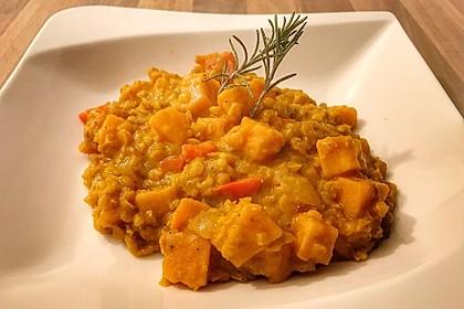 Rote Linsen Curry mit Süßkartoffeln 8