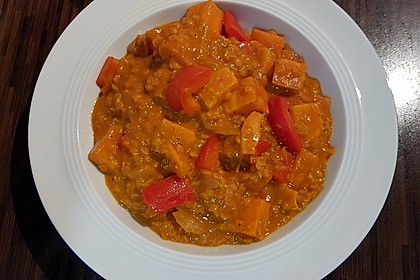 Rote Linsen Curry mit Süßkartoffeln 2