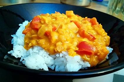 Rote Linsen Curry mit Süßkartoffeln 11