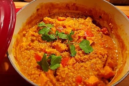 Rote Linsen Curry mit Süßkartoffeln 18
