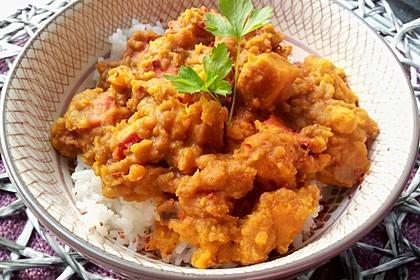 Rote Linsen Curry mit Süßkartoffeln 4