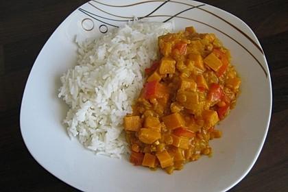 Rote Linsen Curry mit Süßkartoffeln 10