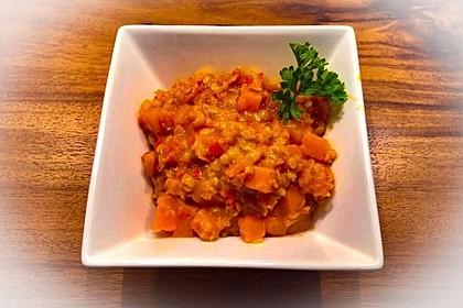 Rote Linsen Curry mit Süßkartoffeln 16