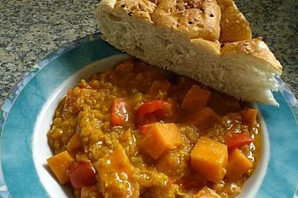 Rote Linsen Curry mit Süßkartoffeln 12