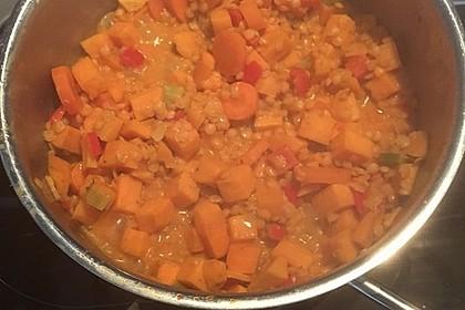 Rote Linsen Curry mit Süßkartoffeln 23