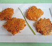 Karottenpuffer mit Kresse (Bild)