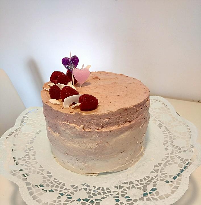 dreifarbige erdbeer kokos torte ohne zucker rezept mit bild. Black Bedroom Furniture Sets. Home Design Ideas