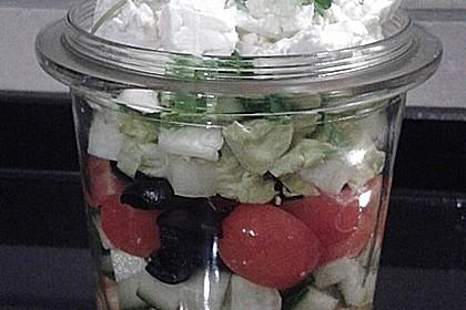 salat im glas salat f rs b ro griechischer salat rezept mit bild. Black Bedroom Furniture Sets. Home Design Ideas