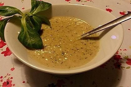 Doms Champignon-Brokkoli-Suppe mit Kokosmilch