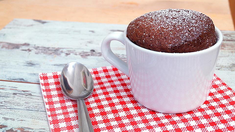 Warmer schokoladenkuchen mikrowelle