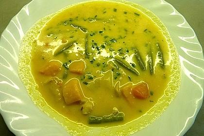 Cremige Süßkartoffel-Hähnchen-Suppe