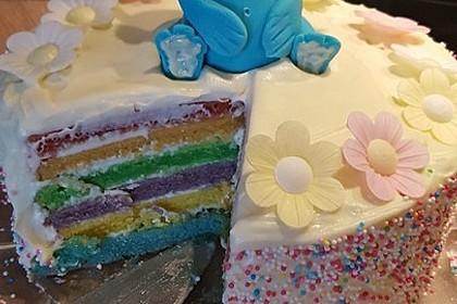 Regenbogentorte – Rainbow cake 48