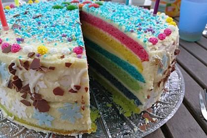 Regenbogentorte – Rainbow cake 74