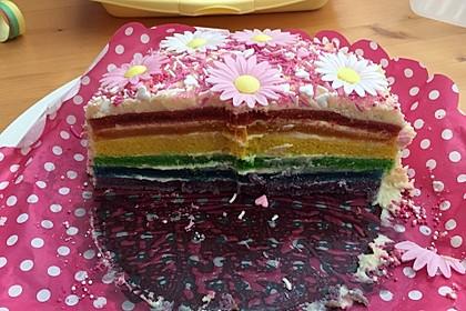 Regenbogentorte – Rainbow cake 72