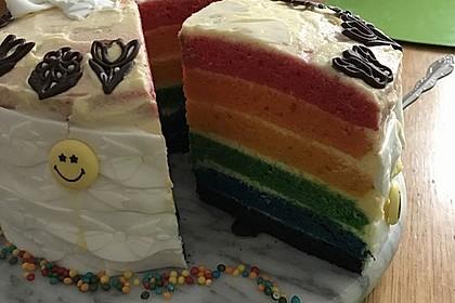 Regenbogentorte – Rainbow cake 24