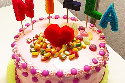 Regenbogentorte – Rainbow cake 40