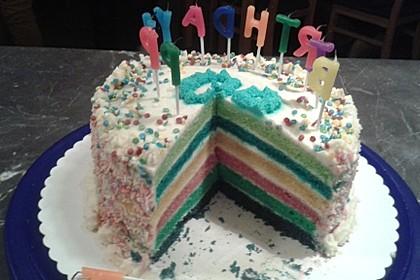 Regenbogentorte – Rainbow cake 67