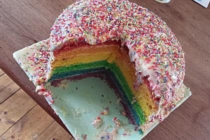 Regenbogentorte – Rainbow cake 59