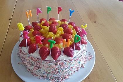 Regenbogentorte – Rainbow cake 36