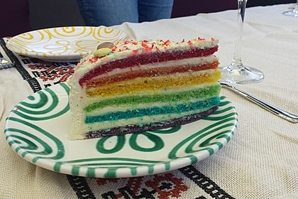 Regenbogentorte – Rainbow cake 47