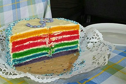 Regenbogentorte – Rainbow cake 19