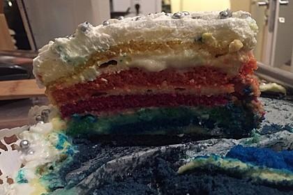 Regenbogentorte – Rainbow cake 76