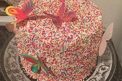 Regenbogentorte – Rainbow cake 5
