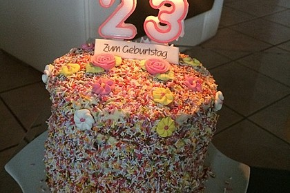 Regenbogentorte – Rainbow cake 33