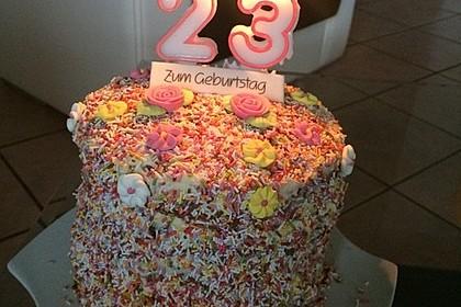 Regenbogentorte – Rainbow cake 32