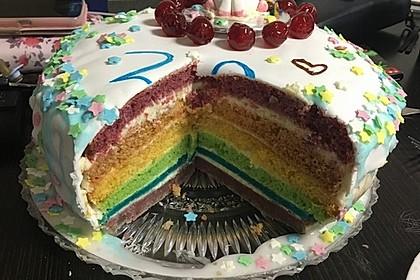 Regenbogentorte – Rainbow cake 55