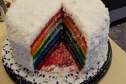 Regenbogentorte – Rainbow cake 28
