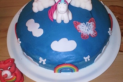Regenbogentorte – Rainbow cake 3